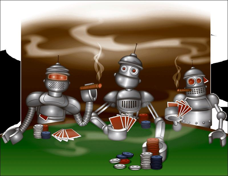 Image result for robots playing poker