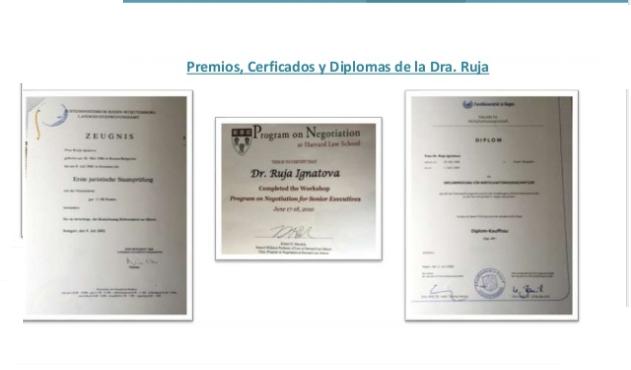 Supuestos títulos universitarios de la Dr Ruja
